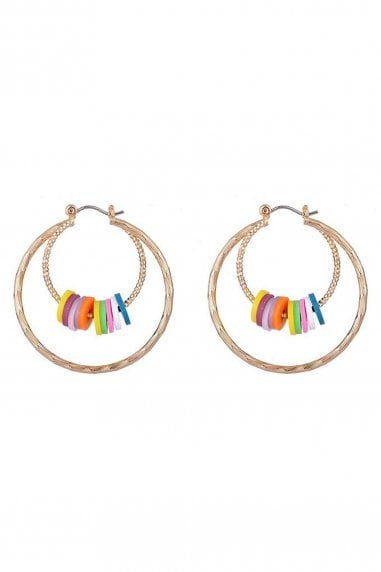 Multicolour Sequin Double Hoop Earrings