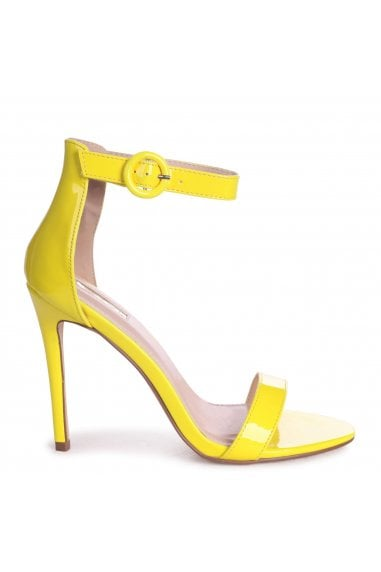 NENA - Neon Yellow Patent Barely There Heel