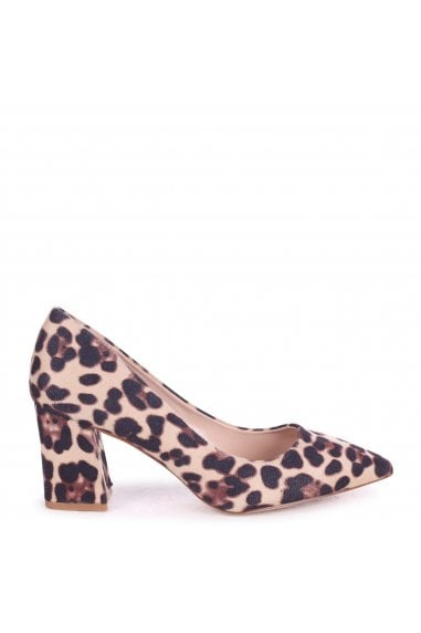 MAGIC - Leopard Print Block Heel Court Shoe