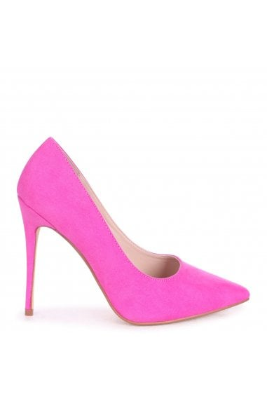 ASTON - Fuschia Suede Classic Pointed Court Heel