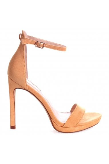 GABRIELLA - Yellow Suede Barely There Stiletto Heel With Slight Platform