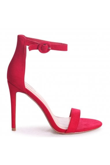Nena Red Suede Barely There Heels