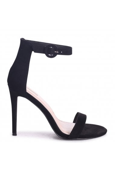 Nena Black Suede Barely There Heels