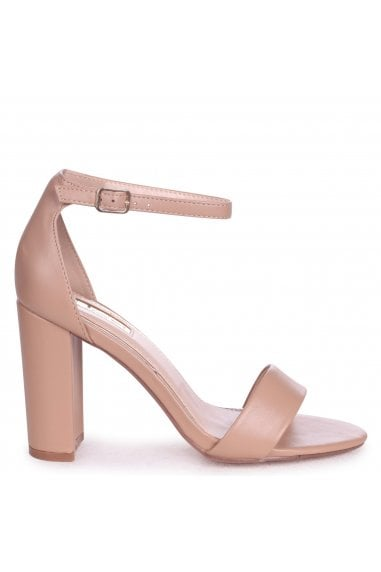 Nelly Mocha Nappa Suede Single Sole Block Heels