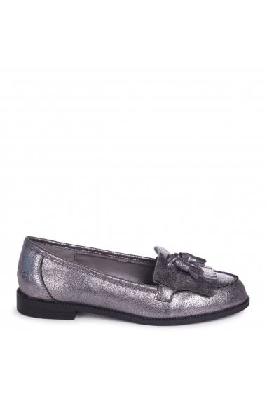ROSEMARY - Pewter Nubuck Classic Slip On Loafer
