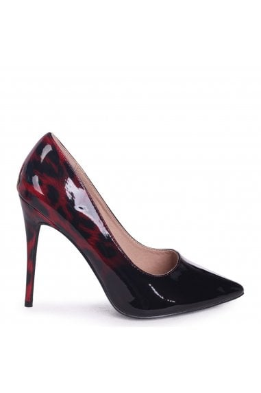 Phoenix Red Leopard Ombre Effect Stiletto Court Heels