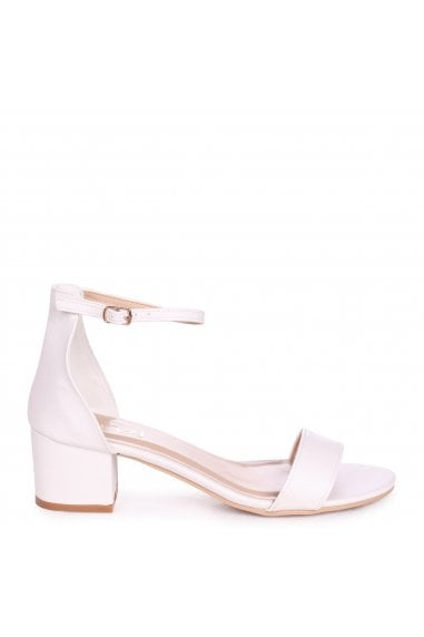 NADINE - White Nappa Barely There Heeled Sandal With Closed Open Back
