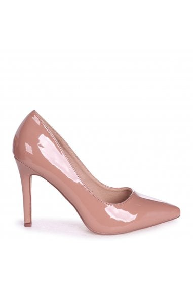 COLETTE - Mocha Patent Leather Classic Court Shoe with Stiletto Heel