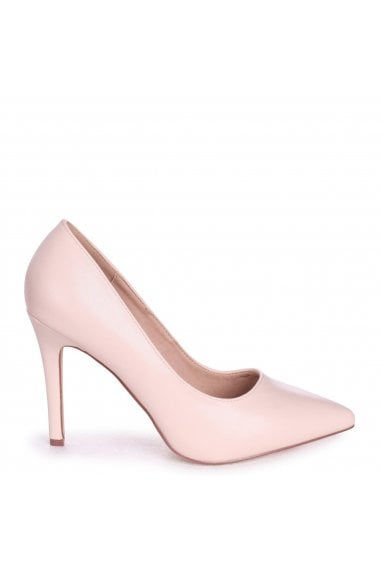 Colette Blush Faux Leather Classic Court Shoe with Stiletto Heel