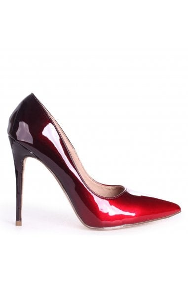 Phoenix Red Ombre Effect Stiletto Court Heels
