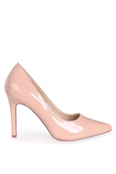 COLETTE - Nude Patent Classic Court Shoe with Stiletto Heel