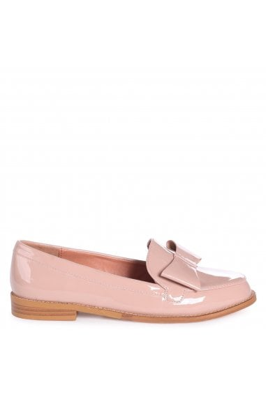 JAMIMA - Mocha Patent Classic Slip On Loafer With Tassel Detail