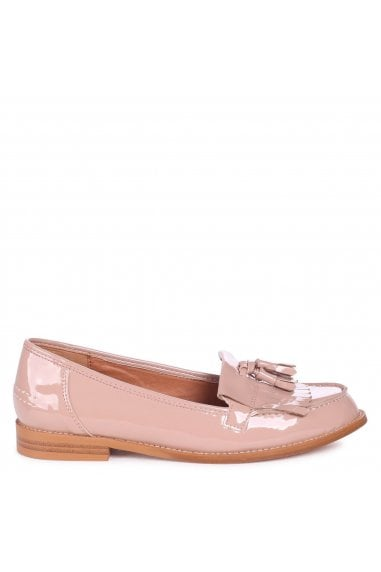 ROSEMARY - Mocha Patent Classic Slip On Loafer