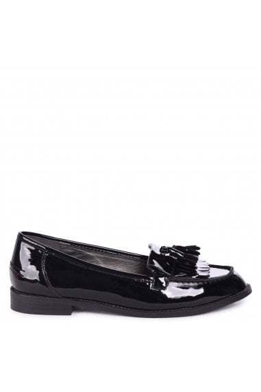 ROSEMARY - Black Patent Classic Slip On Loafer