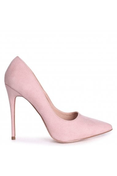 ASTON - Nude Suede Classic Pointed Court Heel