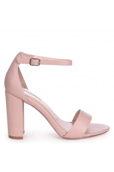 Nelly Nude Nappa Single Sole Block Heels