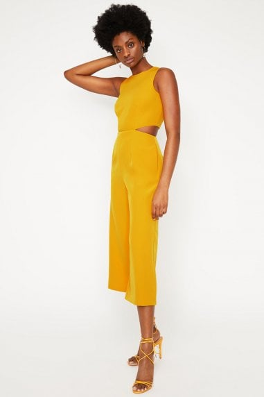 Yellow Open Back Jumpsuit