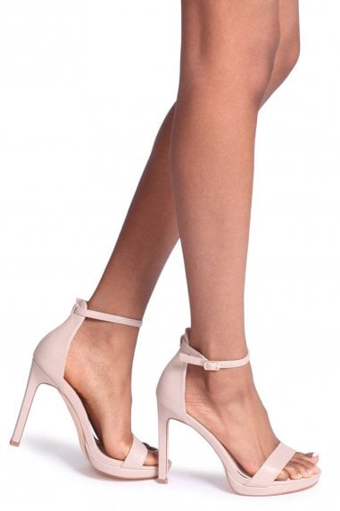 Gabriella Nude Nappa Barely There Stiletto Heel With Slight Platform