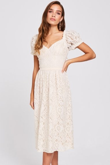 Ellis Buttercup Lace Midi Dress