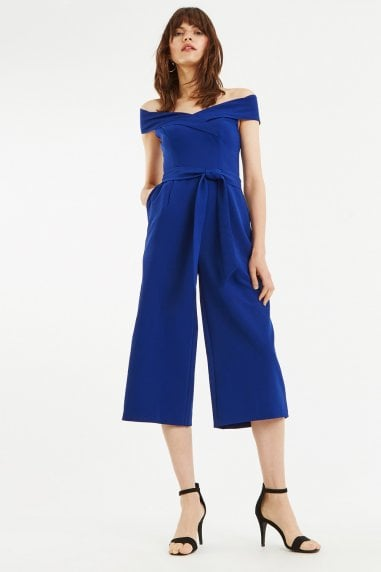 Rich Blue Bardot Jumpsuit