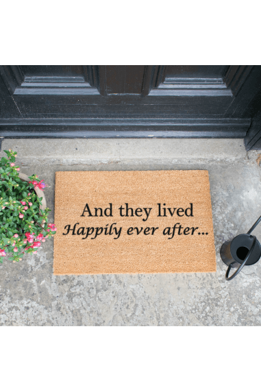 And they lived happily ever after doormat