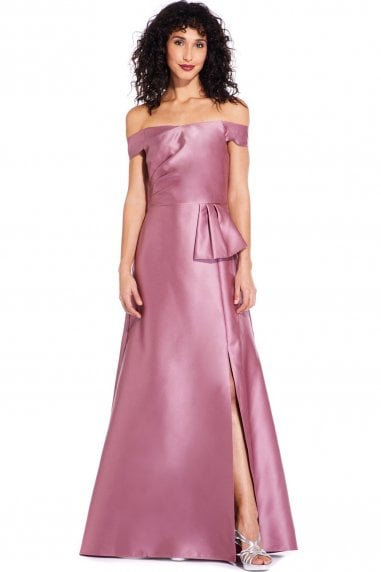 Rose Mikado Maxi Dress