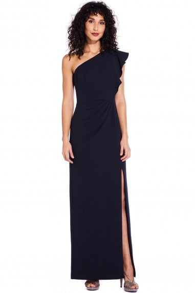 Midnight Knit Crepe Maxi Dress