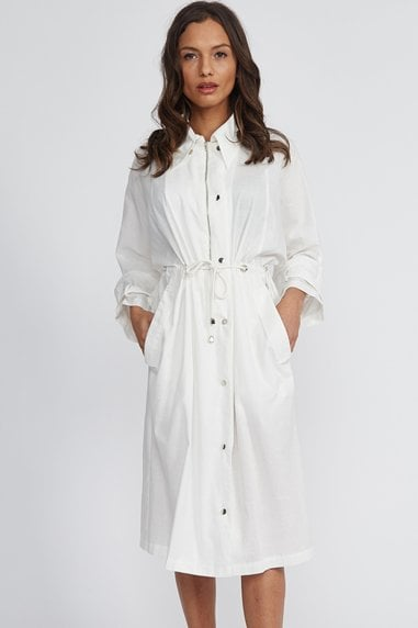 Liquorish White Casual Midi Dress