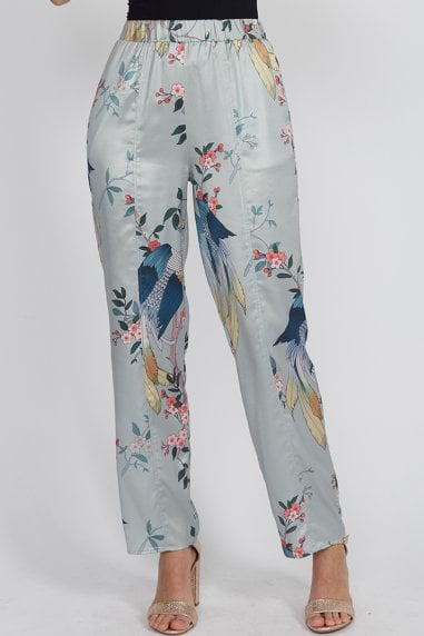Bird Print Trousers