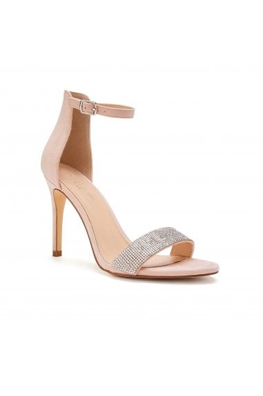Vista Nude High Heel Barely There Ankle Strap Sandals