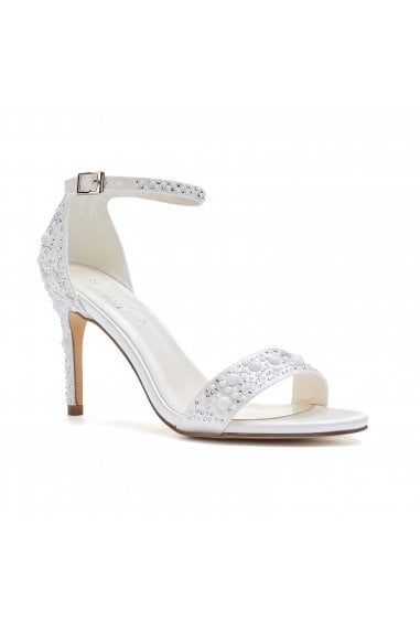 Hampton Ivory High Heel Barely There Sandals With Pear Detail