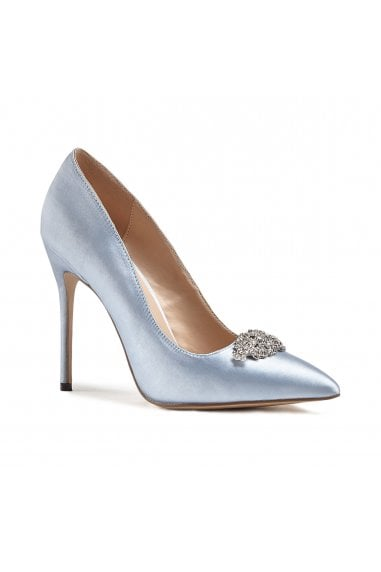 Alandra Something Blue High Stiletto Jewelled Court Shoes