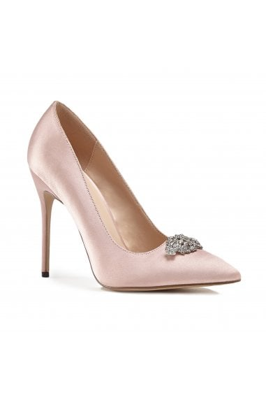 Alandra Blush High Stiletto Jewelled Court Shoes