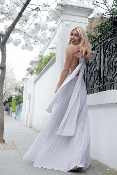 Wear It Your Way Pale Grey Maxi Dress