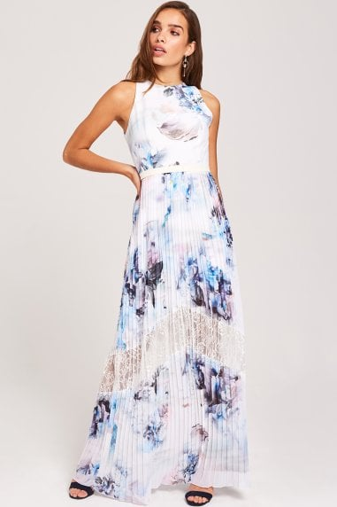 Phoebe Lace-Trim Maxi Dress