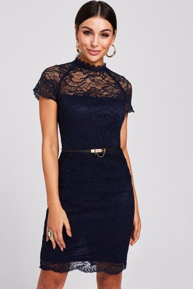 Avon Navy Lace Dress