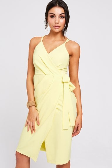 Utah Lemon Wrap Dress