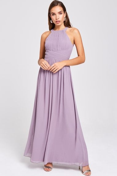 Paige Lavender Lace Back Maxi Dress
