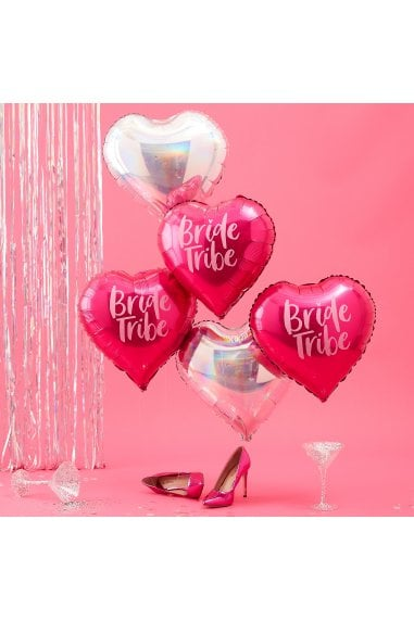Ginger Ray Pink & Iridescent Bride Tribe Hen Balloons
