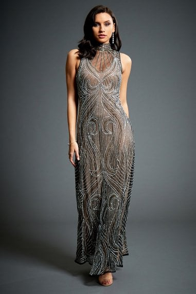 Olivia Embellished Evening Maxi Dress