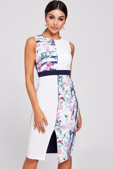 Marlow Floral-Print Pencil Dress