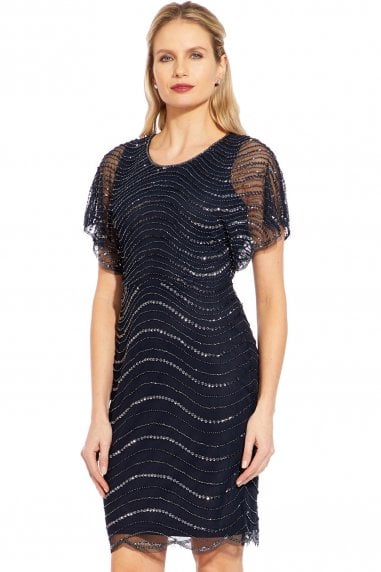 Midnight Beaded Mini Dress