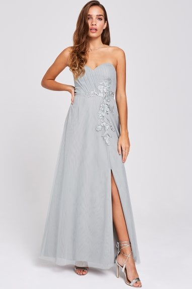 a1617813e5b Lissa Waterlily Sweetheart Neckline Maxi Dress