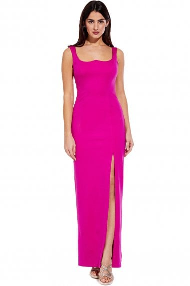 Lola Cosmo Pink Jersey Column Dress