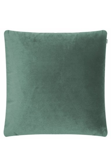 Eucalyptus Green Velvet Fabric Piped Edge Cushion
