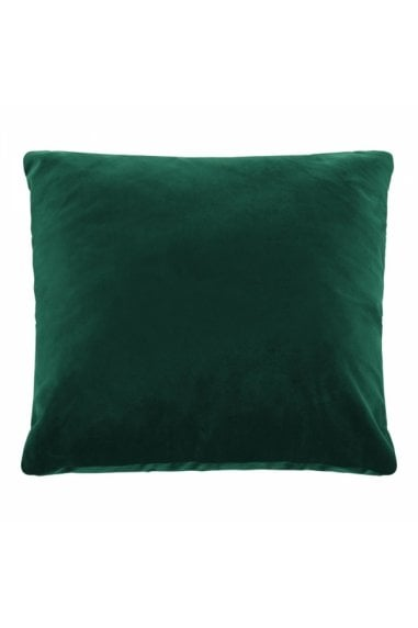Forest Green Velvet Fabric Plain Large Cushion