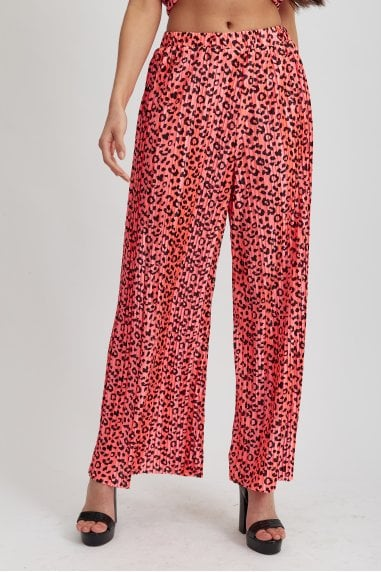 Hot Pink Animal Print Trousers