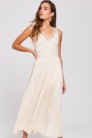 Ellis Buttercup Pleated Midaxi Dress