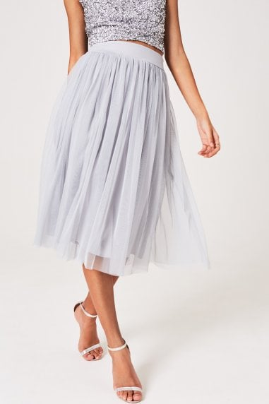 Kaya Grey Tulle Skirt Co-ord