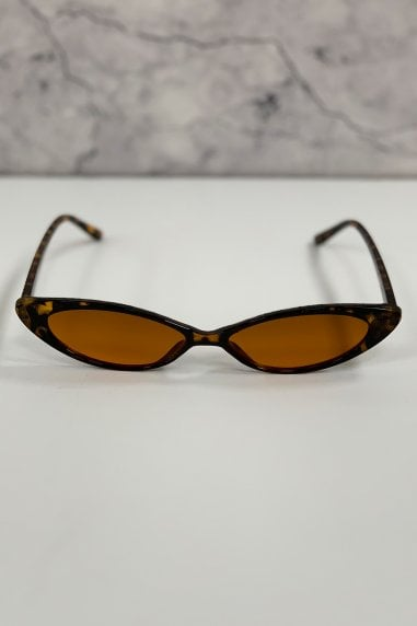 Atelier Tortoiseshell Sharp Cat Eye Sunglasses